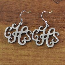 Personalized Monogram Earrings in alloy, Initials Earring,Custom Gift for Mother