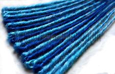 Dread extensions-bleu et turquoise unique terminée dreads dreadlocks 12-13 pouces