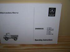 Mercedes-Benz Unimog 435 U1300L U1700L Instruction Manual - NEW