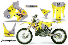 Dirt Bike Graphics Kit Decal Sticker Wrap For Suzuki RM250 1999-2000 TBOMBER YLW