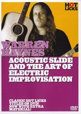 Warren Haynes Acoustic Slide Art Of Electric Improvisation Guitar Music DVD