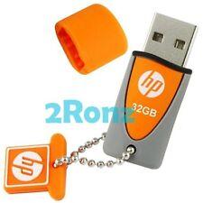 HP v245o 32GB 32G USB Flash Pen Drive Memory Sport Stick Rubber Disk Orange