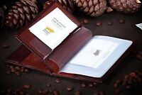 Genuine Brown Braun Buffel Leather Documents, Case for Passport