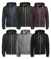 JACK & JONES New Men's Storm Cotton Zip Up Hooded Sweatshirt Top Hoodie