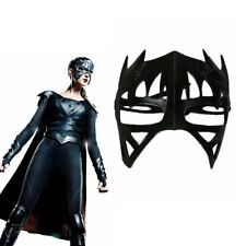 Supergirl Half face Cosplay Resin Mask Helmet  Cool  Party Props Costume Black