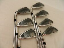 NEW LH 2014 CALLAWAY X2 HOT IRON SET 4-PW SPEED STEP 85 STIFF STEEL IRONS X 2