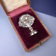 Art Nouveau Wax Seal Stamp / Silver Plated