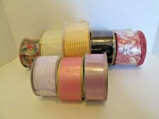 Large Mixed Lot Wire Edged Ribbon Sheer Print Solid 70+ Yds Total #3