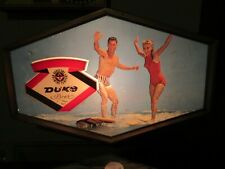 Vintage DUKE BEER Bar Light Surfing DUQUESNE BREWING PITTSBURGH RARE!