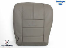 2008-2010 Ford F250 F350 Lariat -Passenger Side Bottom LEATHER Seat Cover Gray