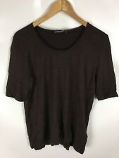BETTY BARCLAY Pullover, braun, Größe 42, kurzarm