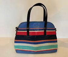 Kate Spade Sylvia Medium Dome Stripe Satchel Crossbody Bag