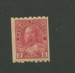 Canada 1913 King George V Admiral Issue Fine-Very fine 2c Stamp #124 CV