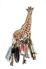 Giraffe  Design Wall Hanging Wooden Key Rack 3 Hooks  Made in UK Ideal Gift