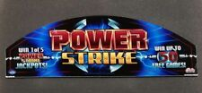 Bally Cinevision Video Slot Machine Glass POWER STRIKE