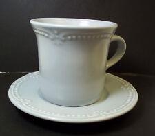 Pfaltzgraff coffee mug & saucer SEA BLUE PEARLS 10 oz 1998-2000 Discontinued