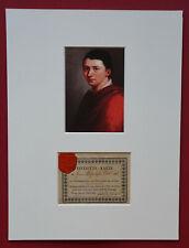 1827 SCHLEGEL, Friedrich von e.U. - Eintrittskarte zu Philosophie des Lebens