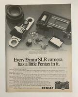1979 Pentax SLR 35mm Camera Print Ad Advertisement Original Vintage