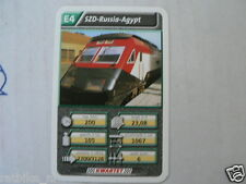 22 SUPER TRAIN E4 SZD RUSSIA AGYPT TREIN KWARTET KAART, QUARTETT CARD