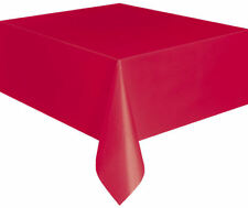 Red Tablecloth Table Cover  Red Table Decoration