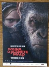 War for the Planet of the Apes POLISH VER. MOVIE PROMO FLYER New The Best Price!