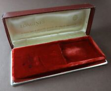 Vintage LONGINES Burgundy Leather BOX for Wristwatches Ref 286. Ca 1960's