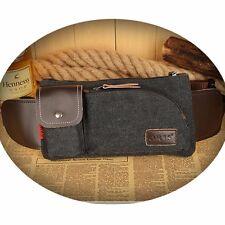 Men Canvas Waist Bag Shoulder Hiking Fanny Travel Belt Purse Hip Pack Bag Wallet