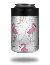 Skin for Yeti RTIC Can Flamingos on White COLSTER NOT INCLUDED