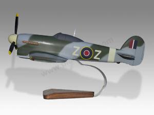 Hawker Typhoon Car Door RAF 1B Z-Z Solid Mahogany Wood Handmade Desktop Model
