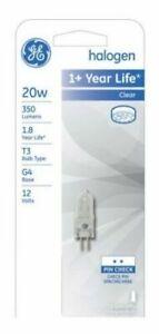 2- GE Lighting 97669 T3 Quartz Halogen Light Bulb-20W CLR QTZ HALOGEN BULB NEW *
