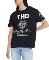 Tommy Hilfiger Mens T-Shirt Black Size 2XL Graphic Tee Logo Printed $39 #279