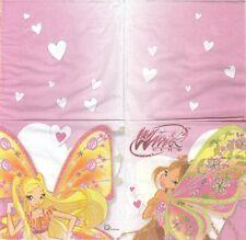 2 Serviettes en papier Enfant Winx Believix - Paper Napkins