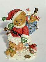 Cherished Teddies 272140 Santa Kris Christmas Up on the Rooftop Retired