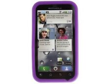 Gel Silicone Case Dark Purple For Motorola DEFY