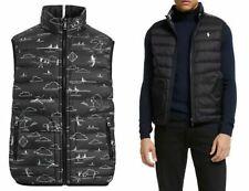 Polo Ralph Lauren Black Reversible 700 Down Golf Vest Jacket Gilet New Size L& M