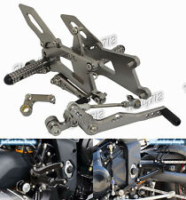 Adjustable Rearsets Foot Pegs Rear Set Titanium Fit 13-16 TRIUMPH Daytona 675 R
