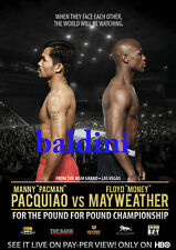 2x Floyd Mayweather & Manny Pacquiao Fight Of The Century Official Poster Photos
