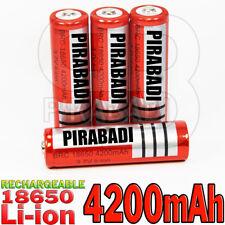 4 PILES ACCU RECHARGEABLE BRC 18650 LI-ION 3.7v 4200mAH BATTERY BATTERIE • PRO •