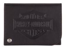 Harley-Davidson Men's B&S Classic Card Holder Leather RFID Wallet HDMWA11485