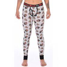 Ginch Gonch Women's Long John Funky Undergarment  Pug Life Large
