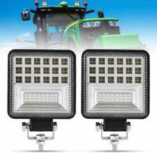 2Pcs LED Work Light 4 Inch 80W Flood LED Light Bar for Tractor 4WD Truck ATV UTV