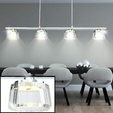 20 watts LED Péndulo reflector techo habitación Cocina Cristal Lámpara PLATA