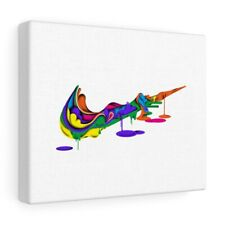 Canvas Gallery Art Nike Logo Swoosh Colorful Retro