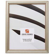 "Craig Frames Stratton, .75"" Queen Ann Distressed Silver Picture Frame"