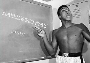 Personalised Muhammad Ali Boxing Birthday Card