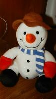 "Gund Silly Chilly Plush Snowman Stuffed Animal Toy 8"" W/ Hat & Scarf 1025"