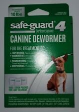 Safe Guard 4 Canine Dewormer For Small Dog. Roundworm Hookworm Tapeworm Whipworm