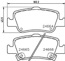 Mintex MDB2924 Brake Pad Set