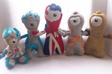 London 2012 Wenlock And Mandevillle Set Of 5 Plush Toys Official Merchandise UK