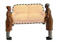 FG06  Furniture Removal Men Figures unpainted OO scale